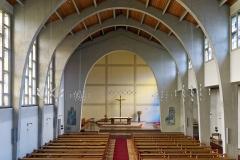 Kirche Amorbach, Übersicht Empore zum Altarraum vor Sanierung