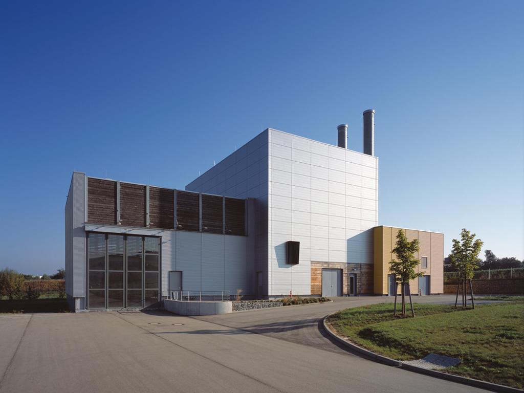 Übersicht Süd-Fassade Holzheizkraftwerk