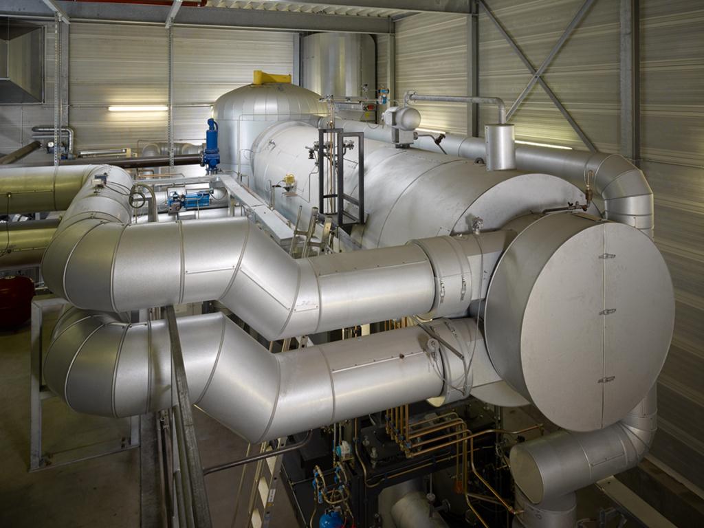 Übersicht Turbinenhaus Holzheizkraftwerk