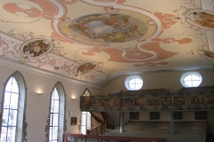 Kirche Waldbach Detail Decke