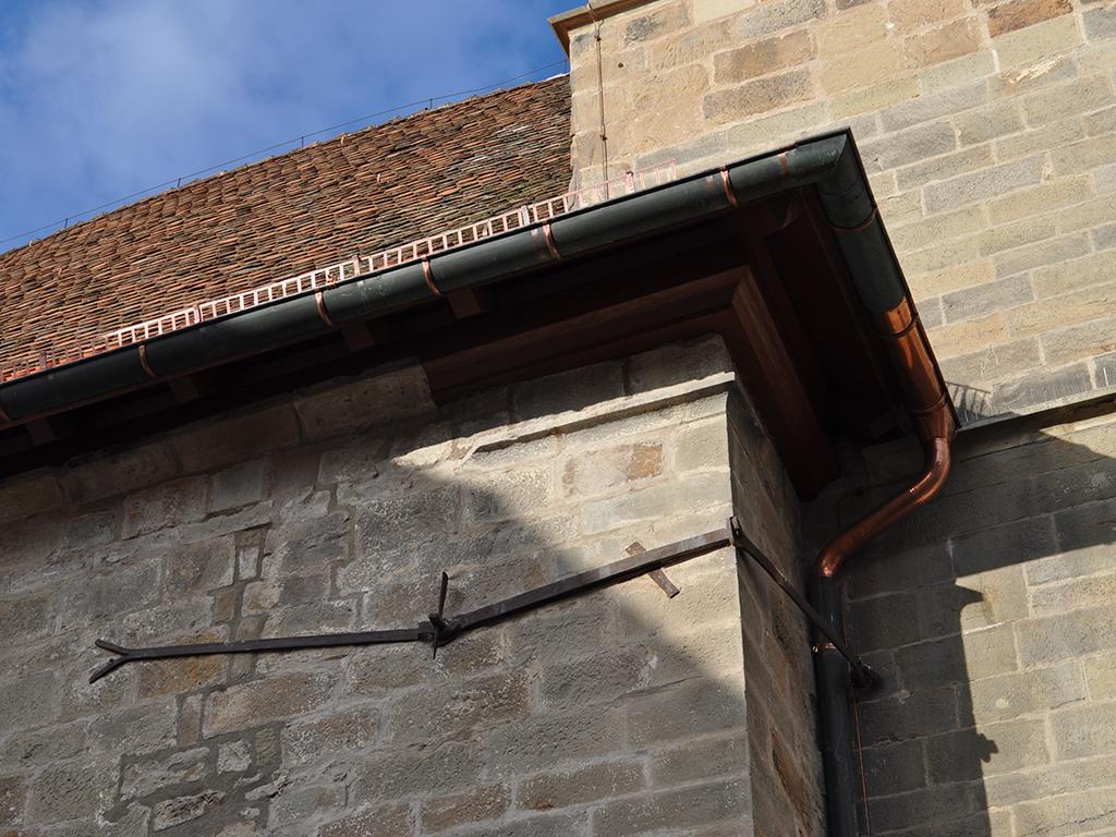 Kirche Brackenheim, Detail der Aussenleitung