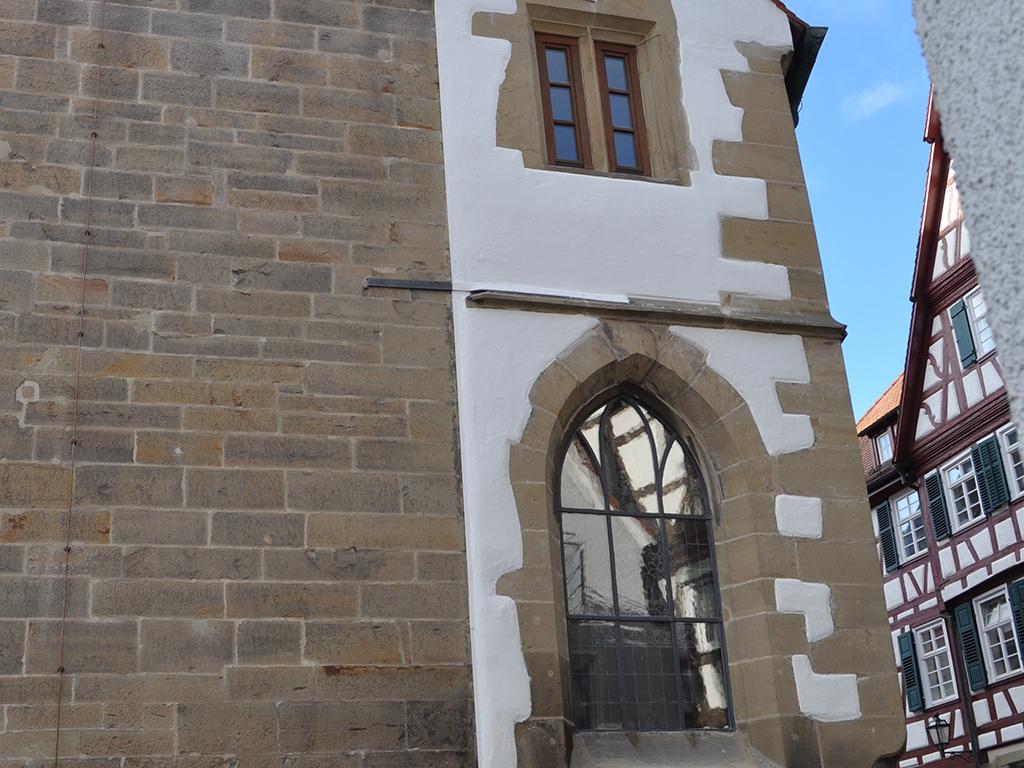 Kirche Brackenheim, Aussenaufnahme der Fassada