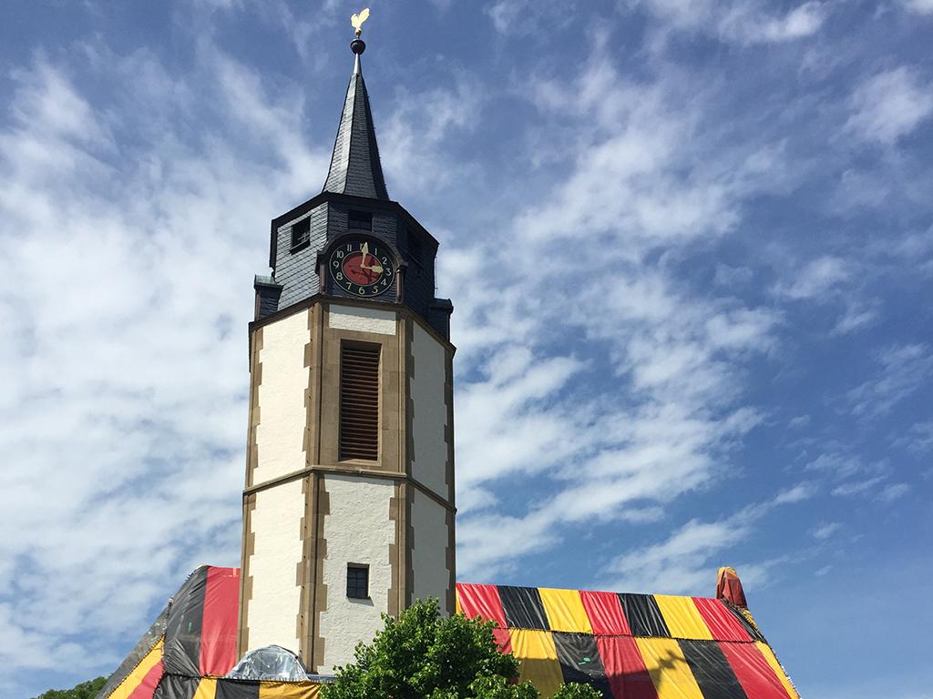 Kirche Massenbach Kirchturm