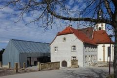 Gemeindehaus Dahenfeld, Strassenansicht von Südost - Vor Fertigstellung