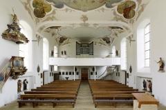 Kirche St.Remigius Übersicht mit Empore, nach der Sanierung 2010