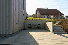 Terrasse mit Seiteneingang Küche